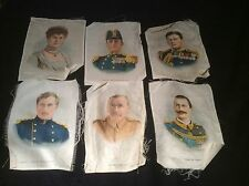 SIX LARGE CIGARETTE SILKS KINGS QUEENS AND MILITARY