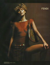 Publicité 2002  FENDI  sac à main mode collection