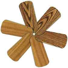 "Replacement Blades for 32-34"" Ceiling Fan 6/pk Reversible Med Oak / Teak_236-B56"