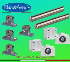 Kit guide calibrato acciaio temprato rettificato Ø10 x2 500mm x4 SK10 SC10UU 3D