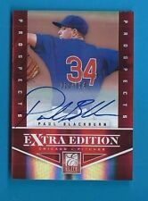 PAUL BLACKBURN Autograph 2012 ELITE EXTRA EDITION Ser #'d 10/594 Auto CUBS