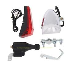 Bike Cycling Dynamo LED Headlight Taillight Set No Batteries Needed Torch Light