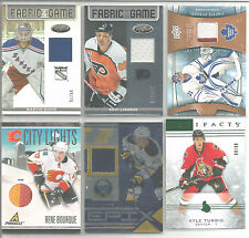 2012-13 Certified Martin Biron Fabric of the Game Mirror Jersey #9/75 Rangers