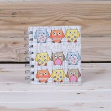 NOTES & STUFF Owl Scrapbook Mini pocket notebook Small Handbag Journal pad New