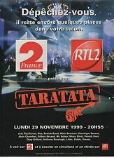 Publicité Advertising 1999 radio RTL 2 TARATATA