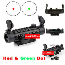 Hunting 1X30 Red Dot Optic Scope Sight Mount Picatinny Rail 20mm For Rifle