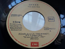 "QUEEN ""IT'S A HARD LIFE"" RARE SPANISH 7"" VINYL / BRIAN MAY - FREDDIE MERCURY"