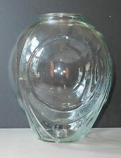 """Vintage Clear Glass Swag Light Large Lamp Globe Shade 10 1/2"""""""