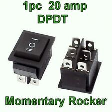 20 amp  6Pin ON-OFF-ON 3 Position DPDT Momentary Rocker Switch  US Seller