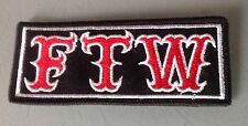 FTW! F@@k The World  Patch Rocker Outlaw Biker 1% MCC Motorcycle Hells Angels