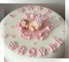 ✿ ✿  Handmade Baby girl ruffle cake topper baby shower Christening birthday ✿ ✿