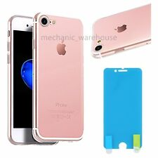 "Ultra Thin Crystal Clear Case Cover for Apple iPhone 7 4.7"" Dust Plug Protector"