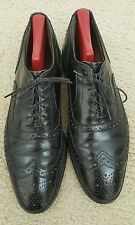 Mens Allen Edmonds Mcallister Wingtip Dress Shoes Size 10 Black Pre-owned EUC
