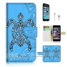 iPhone 6 Plus (5.5') Flip Wallet Case Cover! P0959 Aztec Turtle