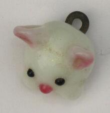 1 handmade lampwork paperweight shape blue animal design glass button---rabbit