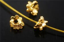 Bulk 20pcs Golden Metal Beads Loose Spacer Jewelry Charms Findings 5.5x9mm NEW