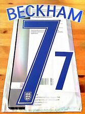 EURO 2016 England LEGEND Home Shirt BECKHAM#7 SportingiD PS-Pro Name Number Set