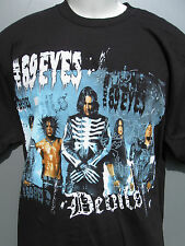 The 69 Eyes Devils US Tour 2006. Black 2 sided t shirt sz Large NWOT