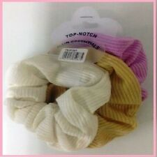 Colour Hair Band Scrunchies Pack Of 3 Colours Pink,White & Gold sale now on