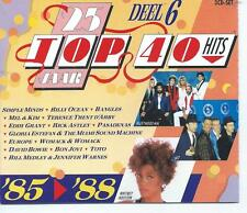 3 CD album 25 JAAR TOP 40 HITS deel 6 1985/ 88 SIMPLE MINDS BON JOVI TOTO BOWIE