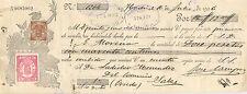 Letra de cambio. Banco de España (Oviedo). 16 de Junio de 1906.