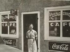 ANTIQUE KILLINGSWORTH CAFE COCA COLA 7UP BABY RUTH ICE CREAM SIGNS DINER PHOTO