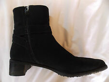 STUART WEITZMAN Black Boots Size 9 M Fabric Buckle Full Zip