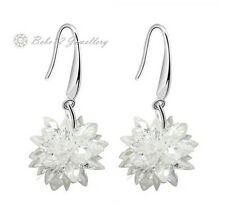 Snowflake Dangling Earring/Swarovski Elements/White gold/Rose gold/RGE560