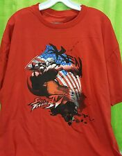 Street Fighter IV Ken American Flag Graphics T Shirt XL Gamer Video Game Gaming