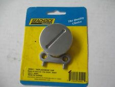 "Boat Replacement Fuel Gas Cap Deck Fill Slotted Top SS 1-1/2"" OD threads 32551"
