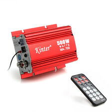 Mini Hi-Fi 500W 2CH Stereo Audio Amplifier Remote Control For Car Motorcycle New