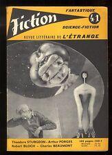 Revue FICTION n° 41 Avril 1957  Robert BLOCH / A. PORGES / T. STURGEON   OPTA
