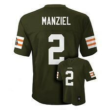 ($55) Cleveland Browns JOHNNY MANZIEL nfl Jersey YOUTH KIDS BOYS (xl)