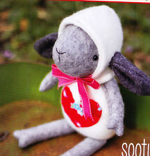 PATTERN - Sooty  - cute wool felt lamb softie/toy PATTERN - May Blossom