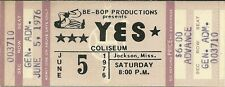 RARE / TICKET CONCERT USED - YES : LIVE USA 1976