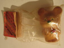 Old 1980 Moscow Russia Olympics Vinyl Mascot Bear in Package