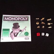 Monopoly Speed Die x2 White Dice 9 Golden Token Instruction Replacement Part NEW