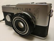 OLYMPUS PEN-F ZUIKO 38mm f2.8 'PANCAKE' AUTO-S LENS FULLY WORKING WITH CASE