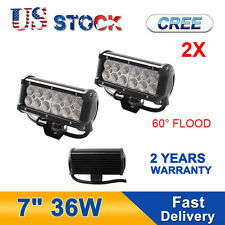 2PCS 7In 36W CREE Led Work Light Bar Flood Fog Lamp Offroad Truck 10W 18W 27W