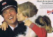 PUBLICITE ADVERTISING 045 1985 SNCF ne séparer pas les amoureux (2 pages)