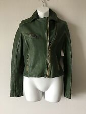 UGG $1,495 Collection 100% Real Buffalo Leather Dipped Moto Jacket Sold out