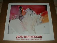 Jean Richardson Abstract Art Horse Poster 1985 Ethios Gallery Artist Signed