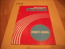 Honda HS50 Snow Blower Owner's Owners Manual