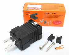Genuine 1x Furutech FI-15ME (R) Rhodium IEC Power Plug connector