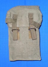 Bulgarian Army GAS MASK BAG Carry Webbing Pack for Belt
