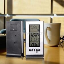 Outdoor Wireless Weather Station Alarm Clock Temperature Snooze Forecast New