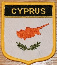 CYPRUS Shield Country Flag Embroidered PATCH Badge P1