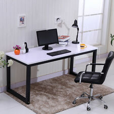 Modern Computer Desk PC Table Home Office Study Workstation Furniture Wooden Top