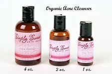 Organic Acne Cleanser skin Blemish Oily Sweet Face Cleaner Pimples Vegan 1 oz