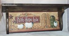 Primitive Wood Shelf Solid Pine Plate Rack Country Home Kitchen Decor Handcrafte